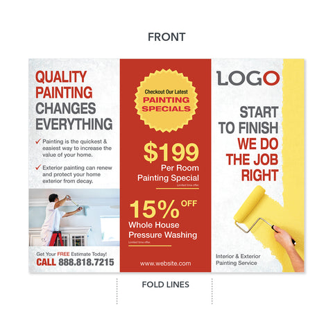 painting contractor trifold brochure