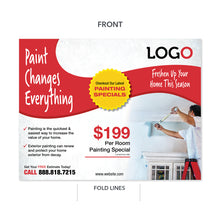 Load image into Gallery viewer, painting contractor trifold brochure