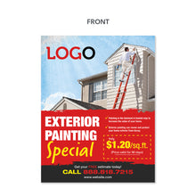 Load image into Gallery viewer, exterior painting contractor flyer