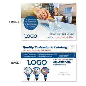 painting contractor postcard design