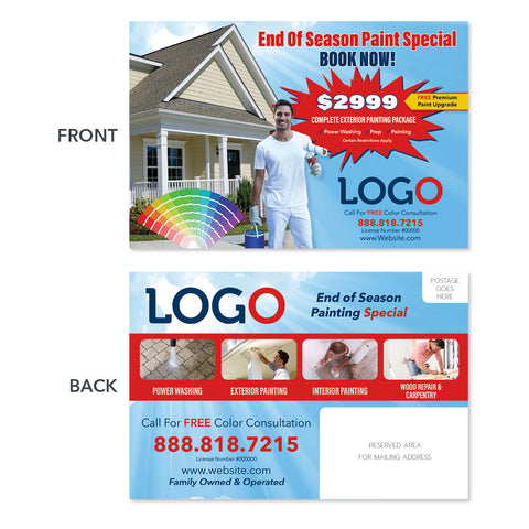 exterior painting contractor postcard