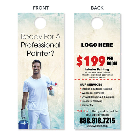painting contractor door hanger design special