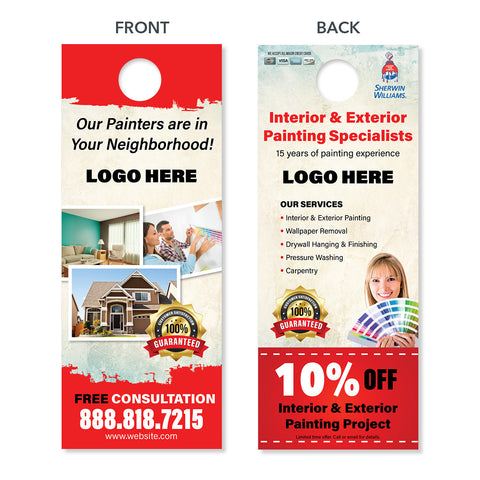 painting contractor door hanger design