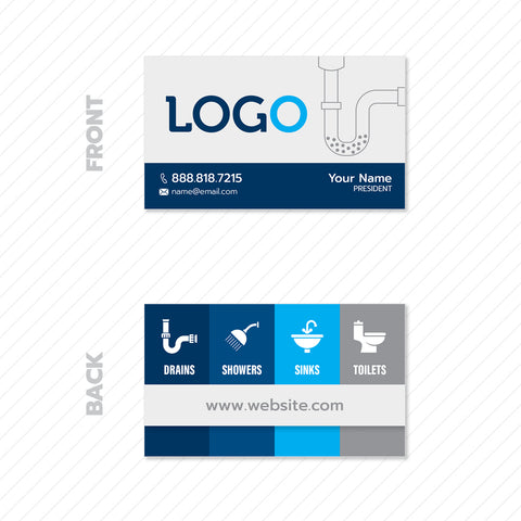 Business Cards For Plumbers Design Print Services Footbridge