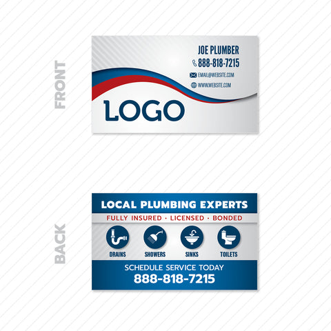 plumbers business card design