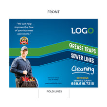 Load image into Gallery viewer, grease trap cleaning plumbers brochure