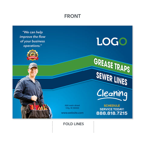 grease trap cleaning plumbers brochure
