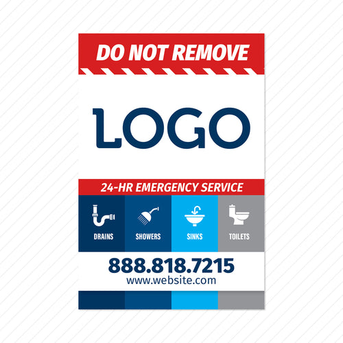 plumbing service sticker design