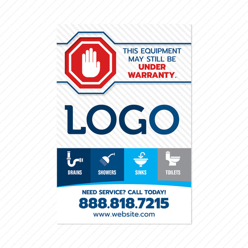 plumbing equipment service sticker