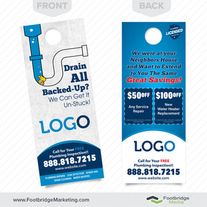 drain cleaning door hanger for plumbers
