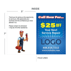 thank you greeting card for plumber