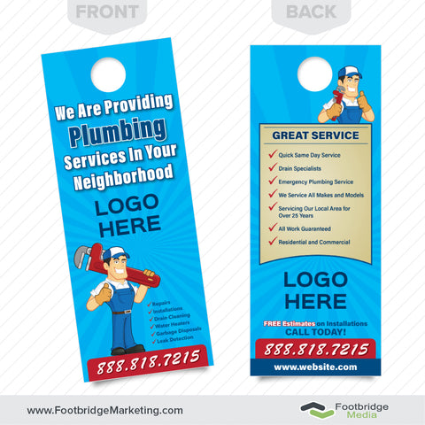 Door Hangers custom designed door hangers - quality prints - free shipping