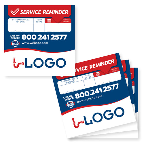 plumbing service reminder sticker