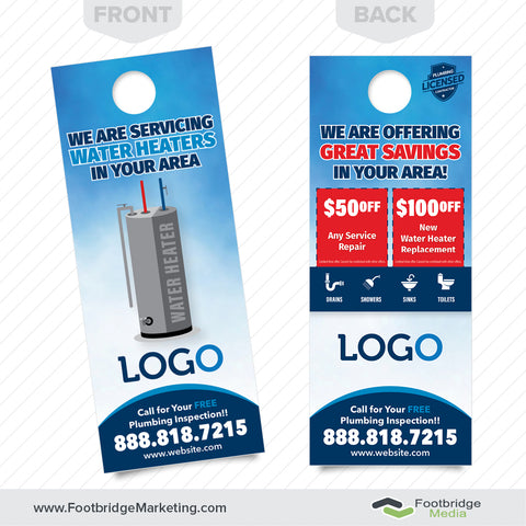 water heater door hanger for plumbers