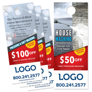 power washing service door hanger design