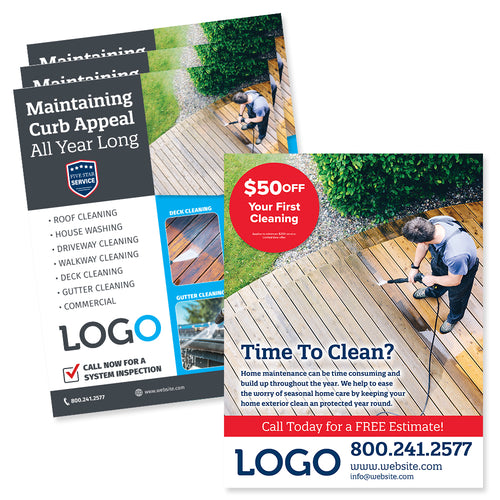 pressure washing flyer design