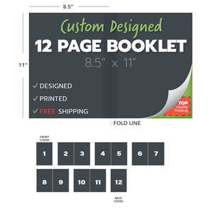 custom design print booklets 12 page