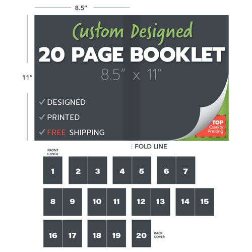 custom design print booklets 20 page