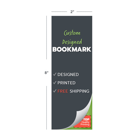 custom design print bookmarks