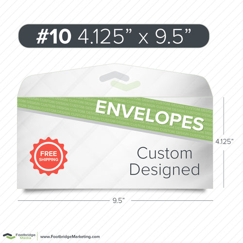 custom design #10 envelope printing