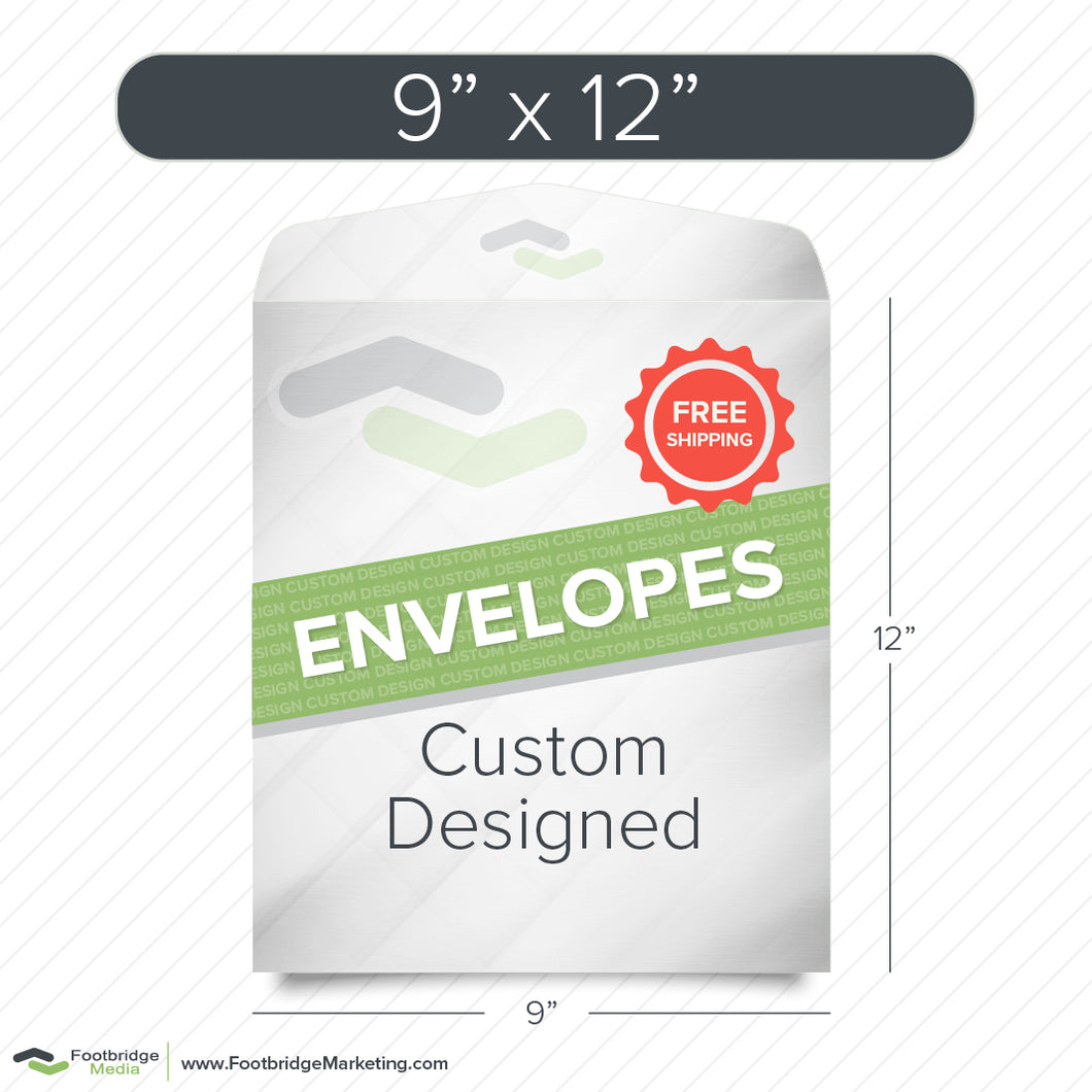 9x12 envelope custom design print
