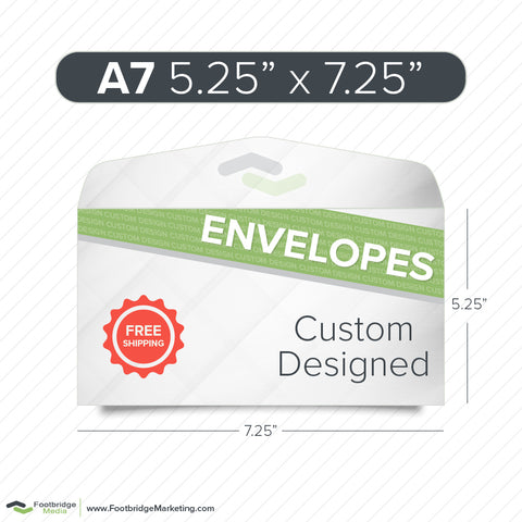 custom design print envelopes A7