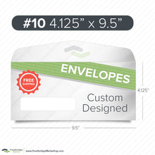 Load image into Gallery viewer, custom design #10 envelope printing with window