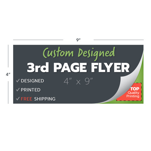 custom design print flyer 4x9