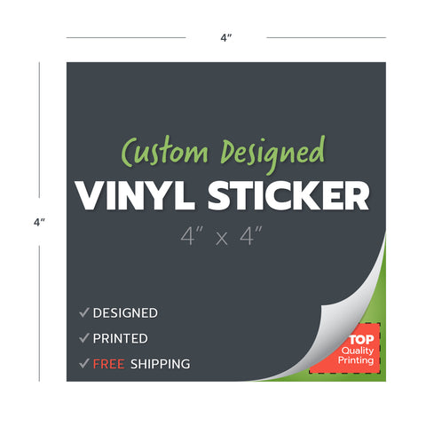 custom design print vinyl stickers