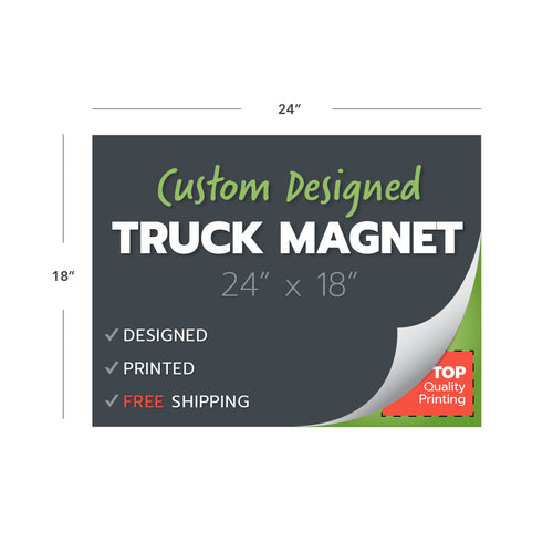 custom design print truck magnets