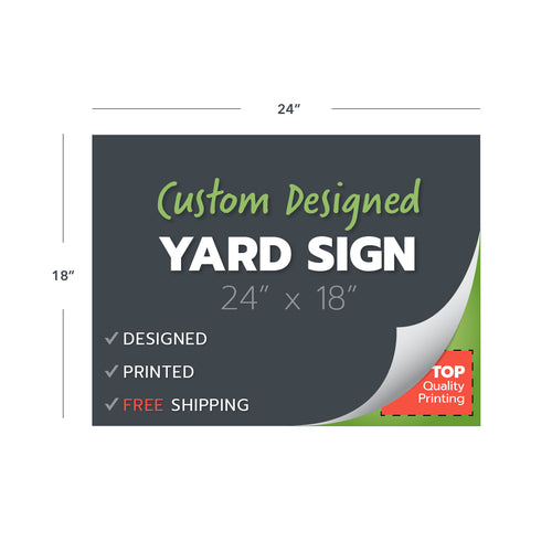 custom yard sign printing