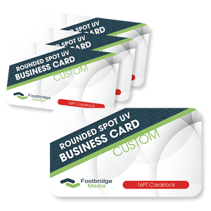 rounded corner spot uv business card printing