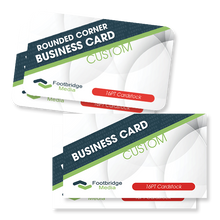 Load image into Gallery viewer, custom design print rounded business cards
