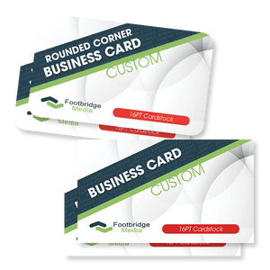 custom design print rounded business cards