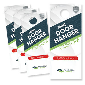 mini door hanger printing