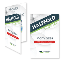 Load image into Gallery viewer, halffold brochure