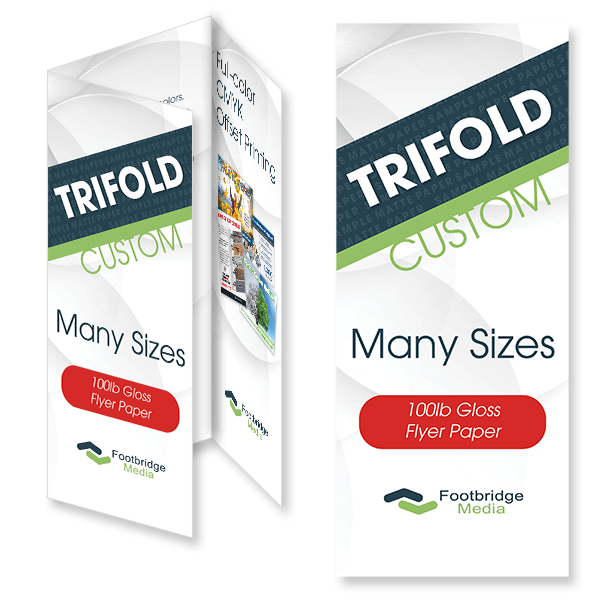 trifold custom brochure design print
