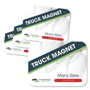 custom rounded truck magnet printing