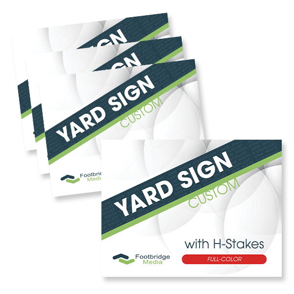 full color custom yard sign printing