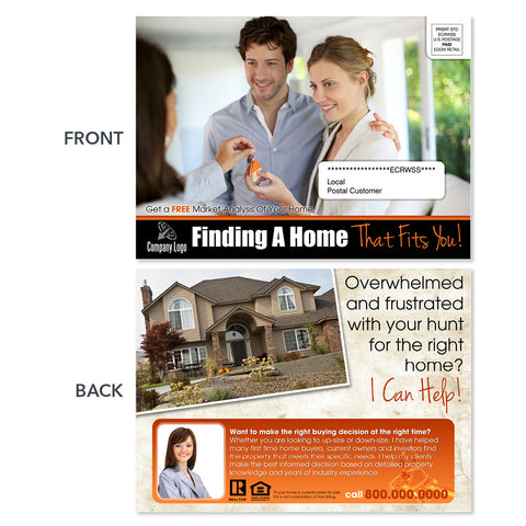 real estate agent eddm postcard design