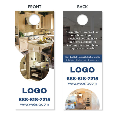 kitchen remodeling contractor door hanger design