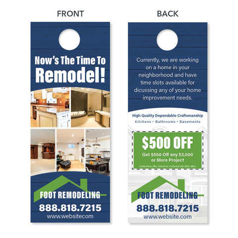 remodeling contractor door hanger design