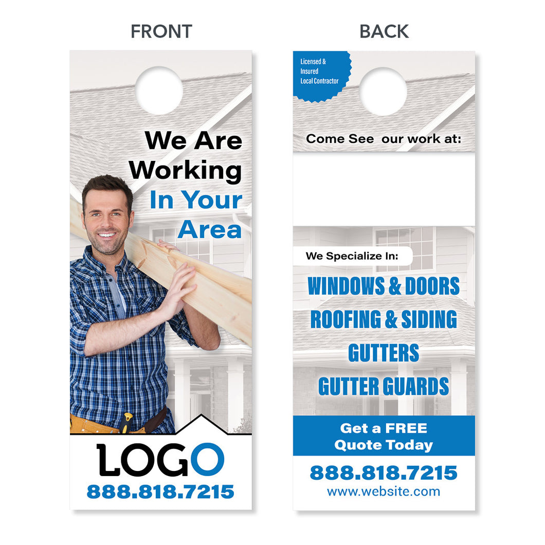 neighborhood remodeling contractor door hanger