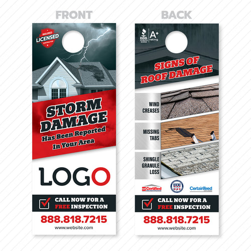 Roofing Door Hanger Signs of Damage