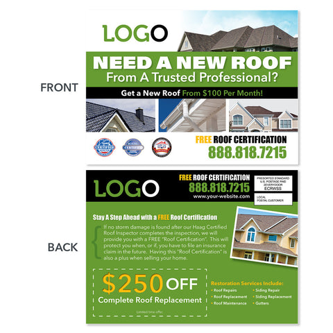 new roof eddm postcard