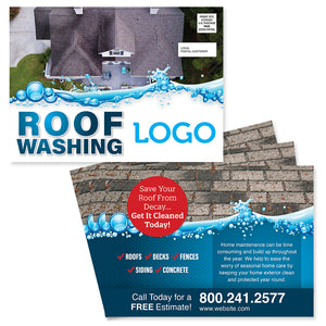 Roof washing eddm postcard