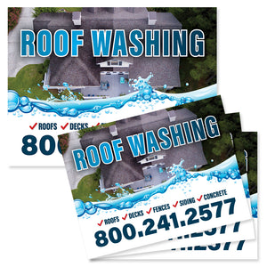 roof washing yard sign design