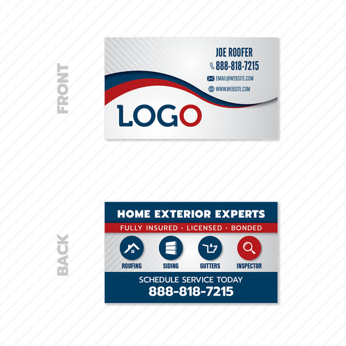 roofers business card design