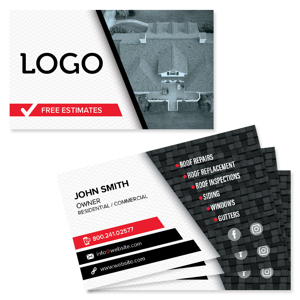 roofer business card design