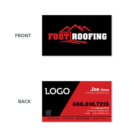 Business cards for roofing contractors design print services roofers business card reheart Choice Image